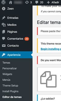 Instalar módulo analytics wordpress